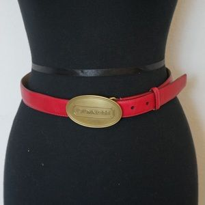 Coach Pink Leather Belt